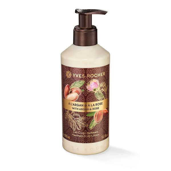 Bodylotion - Mild, argan, rose, 400 ml